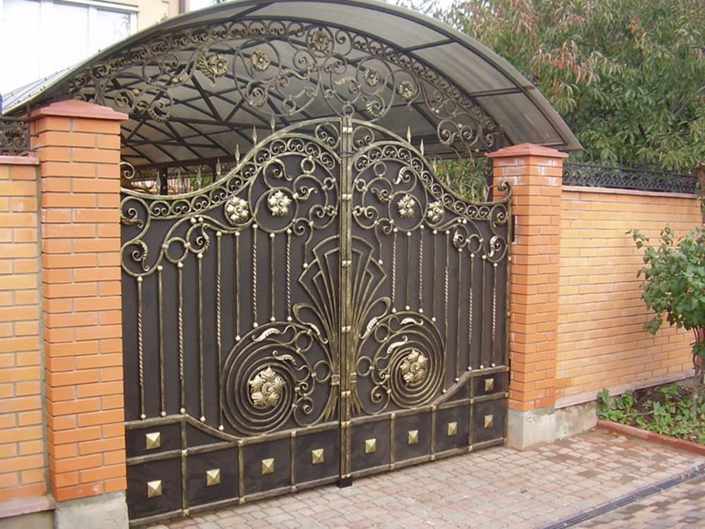 Кованные забор и ворота своими руками